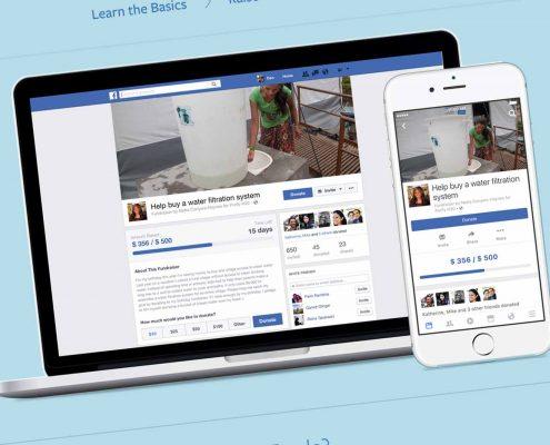 jewish website facebook fundraising tools