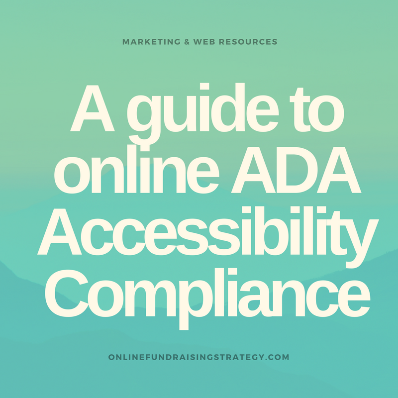 Online Fundraising Strategy ADA Accessibility