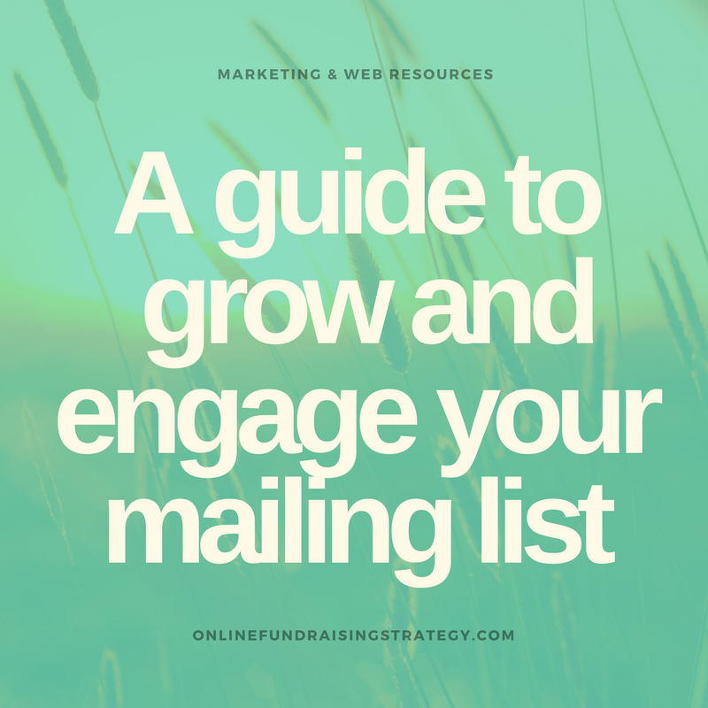 Online Fundraising Strategy Build Mailing List